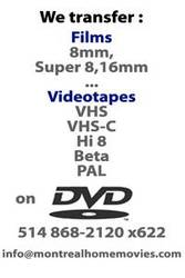 Transfert de films de famille 8mm,  Super 8 sur DVD ou AVI